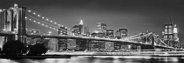 Фотообои Komar 368x124 XXL2-320 Brooklyn Bridge