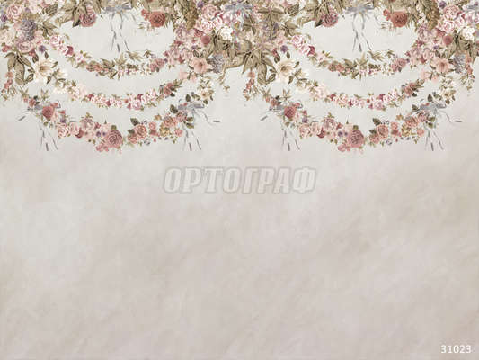 Фреска ОРТО Flora fv 31023 Flower Arch gray (1)